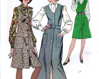 Simplicity 5249 Vintage 70s Misses' Jumper and Blouse Sewing Pattern - Uncut - Size 12 - Bust 34
