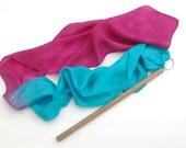 Silk Dancing Wand Whirligig Gradient Colors Waldorf Toy, YOU PICK COLORS