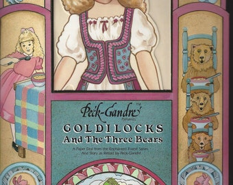 Goldilocks and the Three Bears Vintage Paper Doll by Peck Gandre, 1988