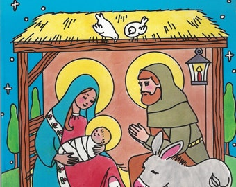 The First Christmas Vintage Coloring Book, C1985