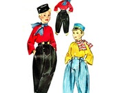 Vintage 1950s Costume Dutch Boy Size 10 12 Chest 28 30 McCalls 1584