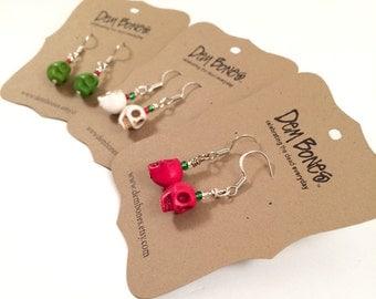 Skeleton Earrings // Valentine Gift Skulls // Nightmare Before Christmas Earrings // Gothic Valentine // Rockabilly Valentine, Gothic Lolita