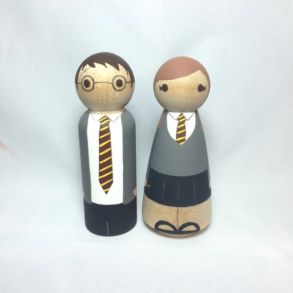 Items Similar To Harry Potter Wedding Cake Toppers On Etsy