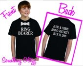 Ring Bearer Tee Custom and Personalized, Ring Bearer Shirt, Ring Bearer Tee, Bling Security Shirt, Keeper of the Bling Shirt 6M - Youth XL