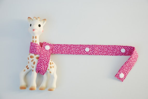 Toy Harness - Pink Polkadots with white snaps