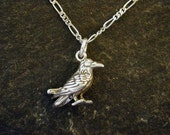 Sterling Silver Crow on Sterling Silver Chain
