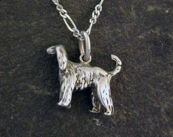 Sterling Silver Afghan Hound Pendant on a Sterling Silver Chain