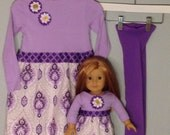 Size 2 Matching Girl and Doll Dresses FREE Tights (3 Pieces) from Frocks with Socks