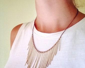 Gold Hammered Bib Necklace