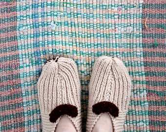 vintage knit slippers,  women's booties,  house socks