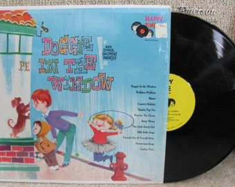 "Vintage ""Doggie in the Window and Other Childrens' Favorites"" Vinyl Record Album - Happy Time Records"