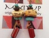 african bead earring #301