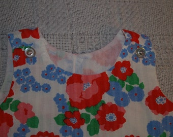 Vintage baby dress with Poppies