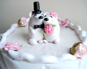 Polar Bear Cake Topper Wedding Anniversary Cake Topper Keepsake Wedding Decorations Wedding Cake Decor Wedding Cake Topper