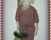 Primitive Santa, Prim Santa claus, Primitive Saint Nick, primitive Christmas