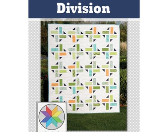 Division Quilt Pattern (PDF) Baby, Throw, Twin & Queen sizes
