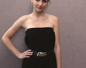 Vintage St. John Size 10 Black Knit Pencil Skirt or Minimalist Tube Dress