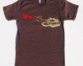 Mens tank shooting hearts- American Apparel brown- Size S, M, L,XL,XXL- WorldWide Shipping
