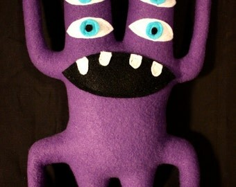 MINI PLUSH MONSTER Seymour in Purple with Two Heads