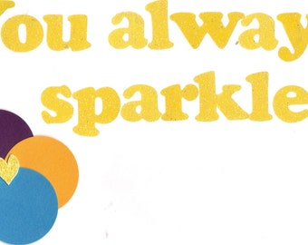 You Always Sparkle Postcard