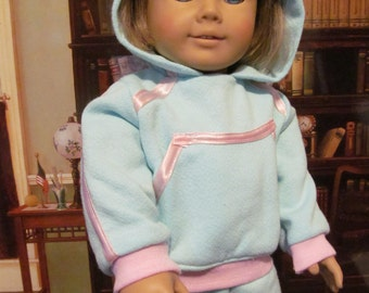 Sweat Suit, Track Suit, Hoodie, Sweat Pants, 18 inch Doll Clothes