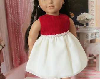 Holiday Dress, Snowcoming  Dress, Christmas Dress, 18 inch  Doll Clothes