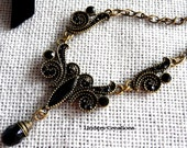 Black Victorian Style Necklace