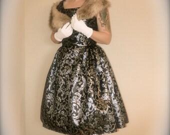 1950s Brocade Swing dress/cocktail dress