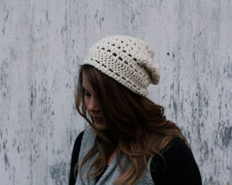 Cream slouch hat for women or girls in any color