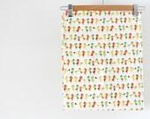 2.5 YARD PIECE 'Postie Goats' Kawaii Japanese Cotton Canvas Fabric