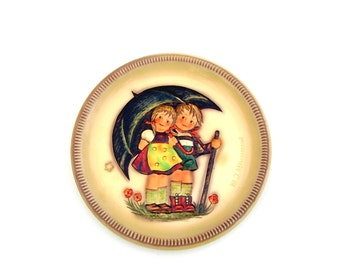 Vintage Hummel Plates Stormy Weather First Edition 1975 Collectible Goebel Hummel NIB Decorative Plate Nursery Decor