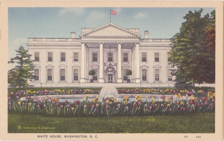 White House Washington DC 1920s Vintage by EphemeraObscura ... 1920 White House