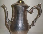 "Silver Plate Wm Rogers Silver Plate #800 Tea Pot 10 1/4 "" High 1878-1976"