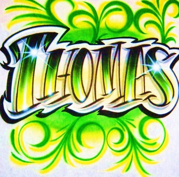 Airbrush T Shirt Tattoo Style Name Airbrush Tattoo Style