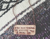 the mountains are calling necklace.