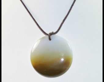 Large Round Bead Made From Polka Dot Agate