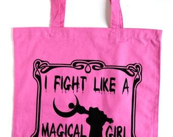 I Fight Like a Magical Girl Punk Tote