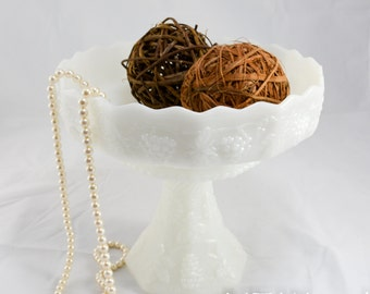Milk glass dessert pedestal, Dessert stand, Cupcake pedestal, cupcake stand, wedding dessert bar, home decor