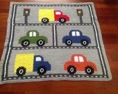 Ready-Made Crochet Baby Blanket Traffic Throw