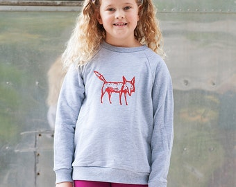 clever me Fox Sweater, Kids Sweatshirt, Back to School, 2T- 12Yrs