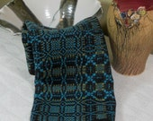 E612 Handwoven Table Runner or Dresser Scarf: Tennessee Trouble