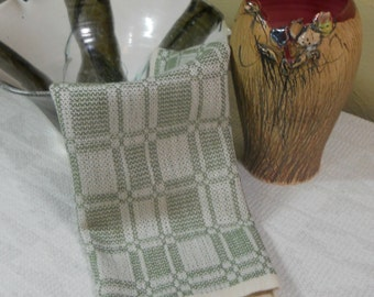 E628 Handwoven Table Centerpiece or Dresser Scarf - Summer and Winter
