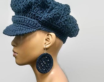 PATTERN ONLY Instant download easy basic hand knit and crochet circle / hoop earrings Photo Tutorial pdf pattern/ hat NOT included