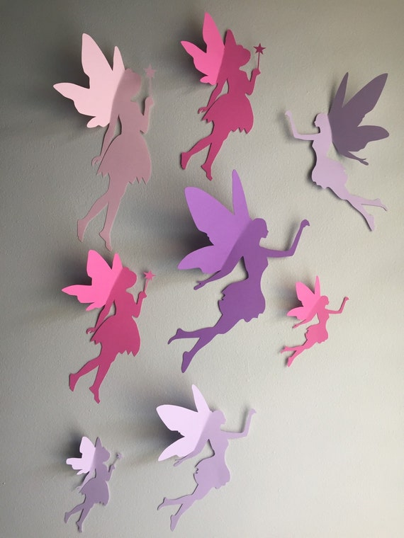 8 Papier Sticker Fee Fee 3d Wall Decor Chambre Lunatique