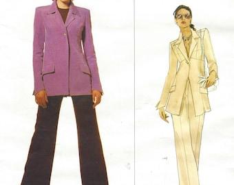 90s Karl Lagerfeld Womens A Line Jacket & Pants Vogue Paris Original Sewing Pattern 1633 Size 8 Bust 31 1/2 UnCut