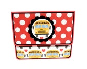 School Gift Card Holder, Gift Card Envelope, Gift Card Box, Money Holder- Polka Dots 3D