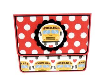 School Bus: Gift Card Holder, Gift Card Envelope, Gift Card Box, Money Holder