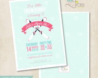 Custom Birthday Party Invitation by Mulberry Paperie - Apres Ski