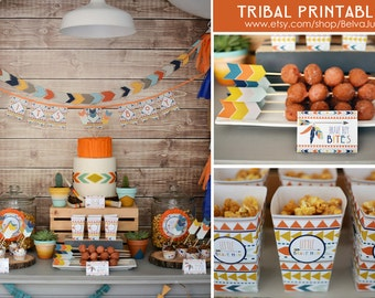 Tribal Printable Collection Also in PINK and Yellow/Teal