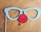 Felt Clown Glasses Photo-Booth Prop | Carnival Photo Prop | Circus Photo Prop | Clown Glasses | Clown Prop | Clown Photo Prop